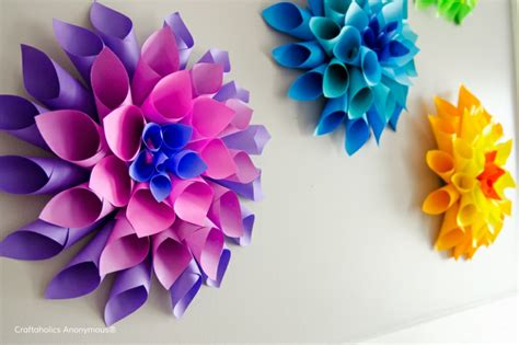 How To Make Paper Plates At Home - flores de papel para decorar el interior de vuestra casa