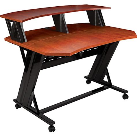 studio trends 46 quot desk cherry cherry guitar center