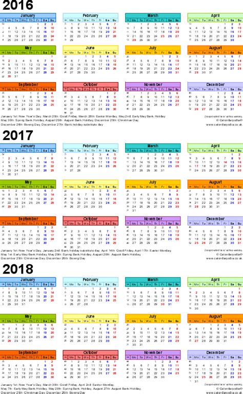 year calendars     uk  word