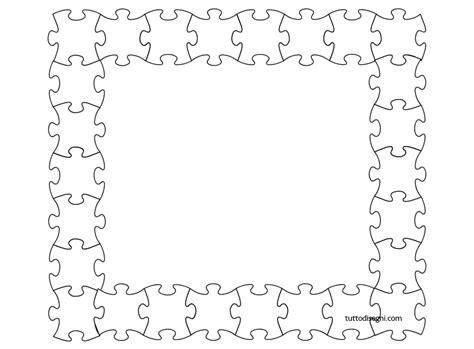 cornici da colorare cornicetta con puzzle da colorare tuttodisegni