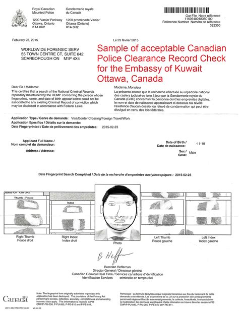 Types Of Criminal Record Checks Canada Kuwait Authentication And Attestation Visaenterprise