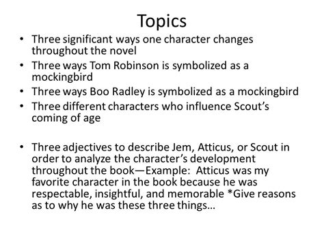 Boo Radley Essay by To Kill A Mockingbird Literary Analysis Essay Ppt