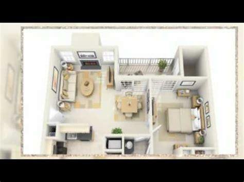 1 Room Floor Plans 3d - 1 bedroom apartment floor plans 3d