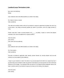 Termination Letter Format Theft Sample Lease Termination Letter 8 Free Documents In Doc