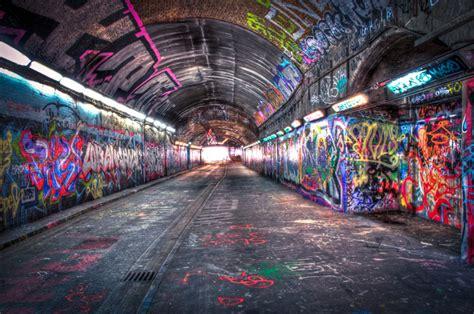 Train Murals For Walls graffiti tunnel under waterloo station guardianwitness
