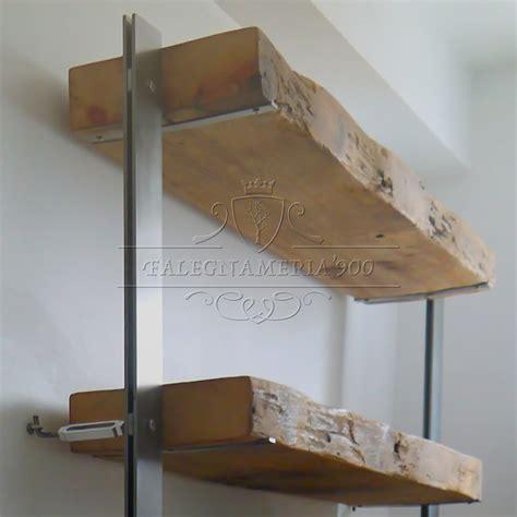 mensole legno massello libreria in legno massello e struttura in ferro modello doris