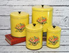 unique kitchen canisters find yellow vintage canister sets 1000 images about yellow canisters on pinterest