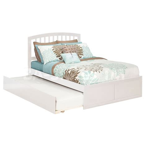 white trundle bed richmond platform bed flat panel footboard urban trundle white beds ar8822012 2