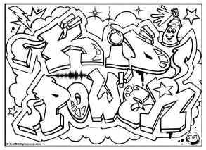 graffiti coloring book kid power free graffiti coloring page free printable