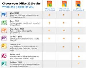 What Is Microsoft Office Suite Office 2010 Suite Comparison Chart
