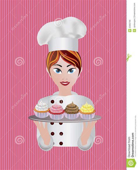 imagenes de chef inspiradoras ejemplo del chef de reposter 237 a de la mujer ilustraci 243 n del