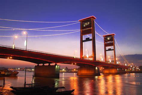 design jembatan musi 4 indonesian travel ampera bridge in palembang