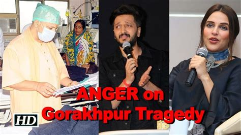 celeb rage celebs rage anger on gorakhpur tragedyq youtube