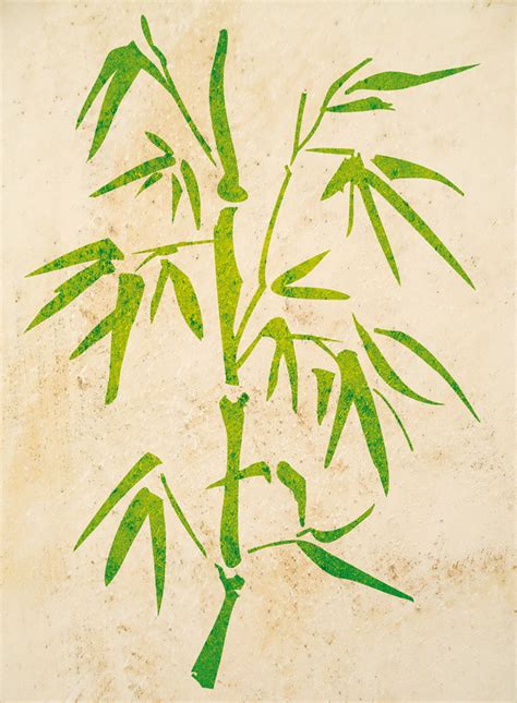 Deko Aufkleber Bambus by Wandtattoo Schablone Bambus Reuniecollegenoetsele