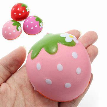 squishy half strawberry 7cm soft rising fruit collection gift decor sale banggood