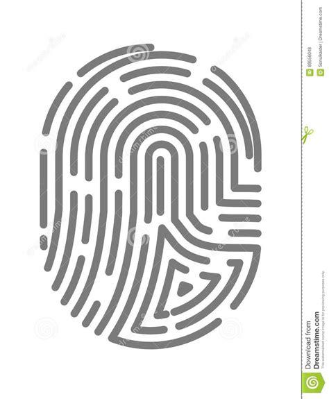 scan line pattern crossword fingerprint or fingertip print pattern vector isolated
