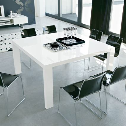 modern square dining table for 8 modern square dining table in glossy white