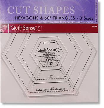 creative grids uk ltd quilt sense hexagons 60 degree
