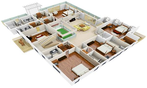 3d floor plan online houzone customized house plans floor plans interiors