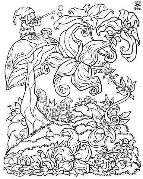 coloring book floral digital version coloring book