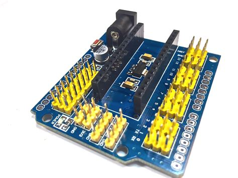 Arduino Nano Shield nano 328p expansion adapter breakout board io shield robu in indian store rc hobby