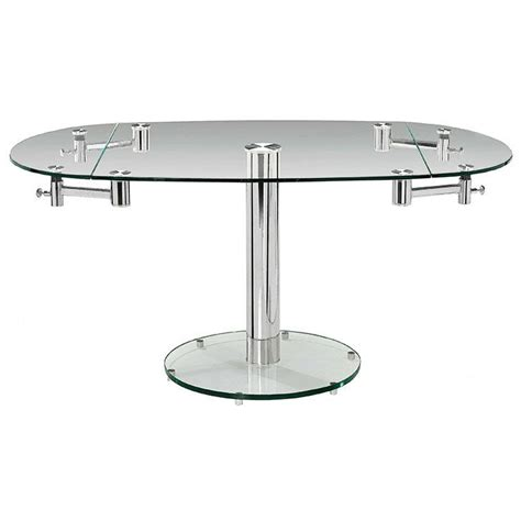 glass dining room tables with extensions add the marina oval extension dining table to your dining