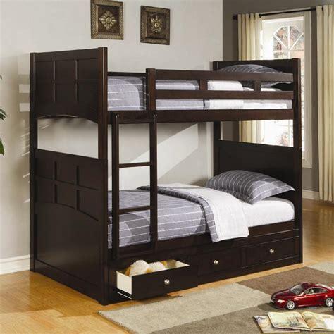 coaster jasper twin bunk bed   bed storage