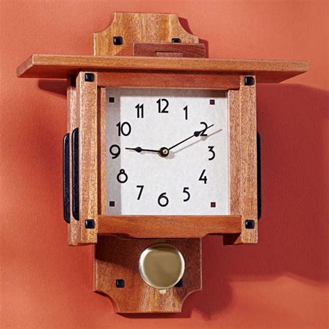 wall clock plans woodworking greene greene wall clock woodworking plan from wood magazine