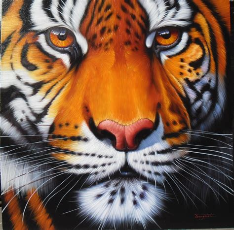 Painting Tiger tiger painting painting on canvas 40x40