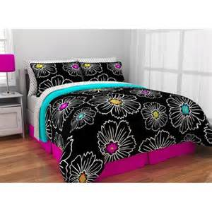 walmart bedding latitude pop bloom bed in a bag bedding set walmart