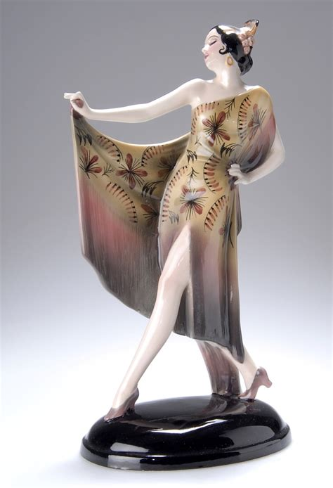 art deco ls for sale an art deco pottery figure by keramos austria 1920s