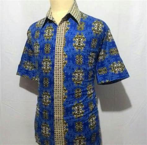 Baju Kemeja Laki Batik Lengan Panjang Pria Cowok Slimfit Formal Casual jual kemeja baju batik pekalongan pria cowok laki big size