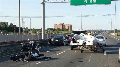 boat crash near skyway motorcyclist dead following crash in mississauga opp