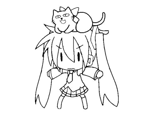 vocaloid hastune miku and coloring pages