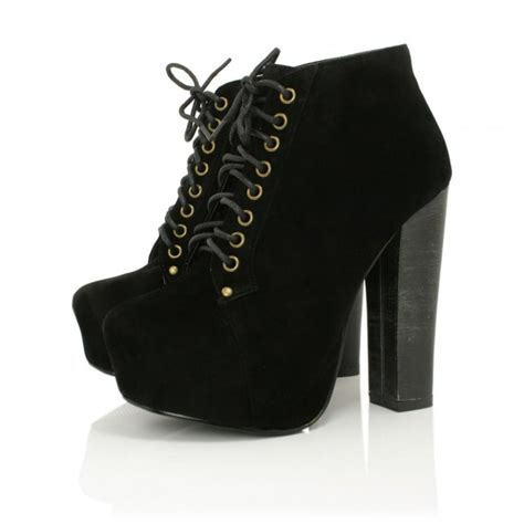 black suede style heeled ankle boots buy black suede