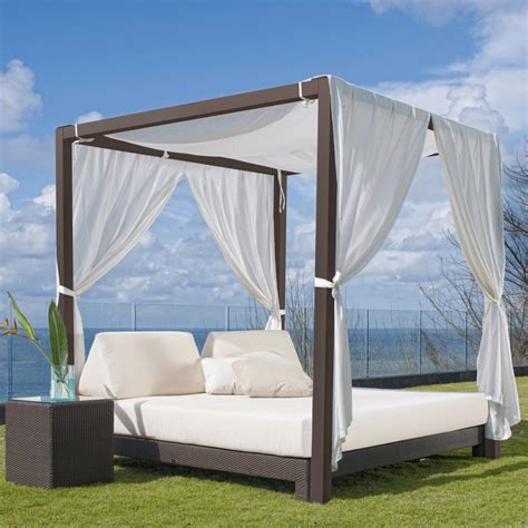 outdoor patio bed sparta black skyline design