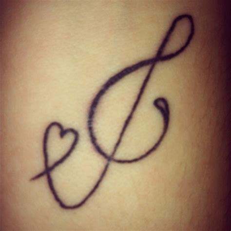 music tattoo treble clef c heart quotes cuteness