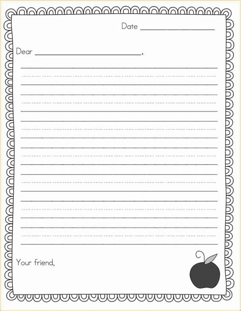 10 Friendly Letter Template For Kids Invoice Template Download Letter Template Photos