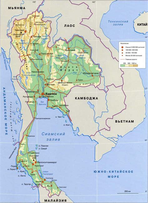 map of thailand country index of country asia thailand maps