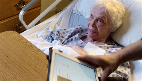 being 47 years old 102 year old dancer alice barker sees herself on film for