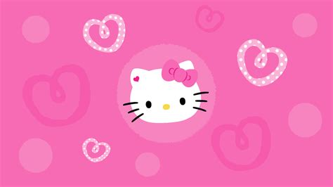 Download hello kitty pink wallpaper 1366x768 full hd wallpapers