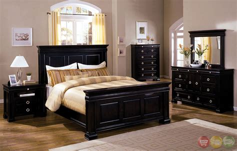 espresso bedroom set cambridge espresso panel bedroom set with dovetail