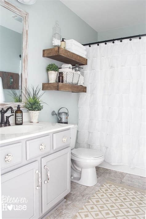updating a small bathroom on a budget farmhouse bathroom update ideas on a budget