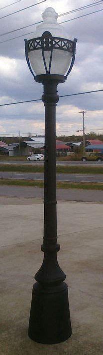 acorn street l globe cast aluminum street l with decorative globe guard