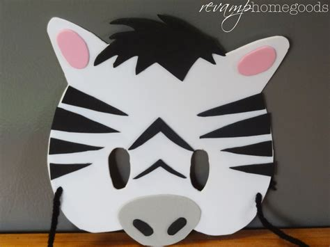mask craft for crafts diy foam animal masks rev homegoods