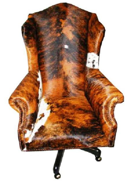 Cowhide Office Chair - country western office furniture free shipping
