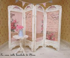 french shabby chic room divider screen 1 12 dolls house
