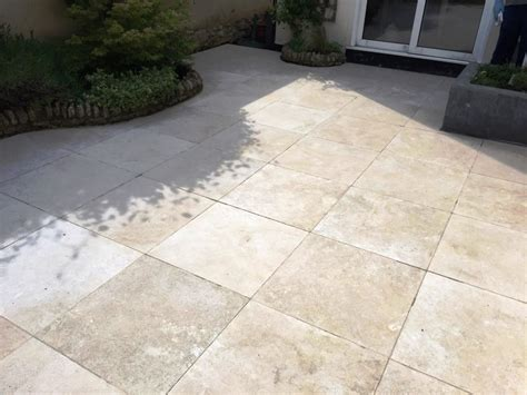 Patio Tile by Limestone Patio Tiles Cleaned In Haddenham Near Thame