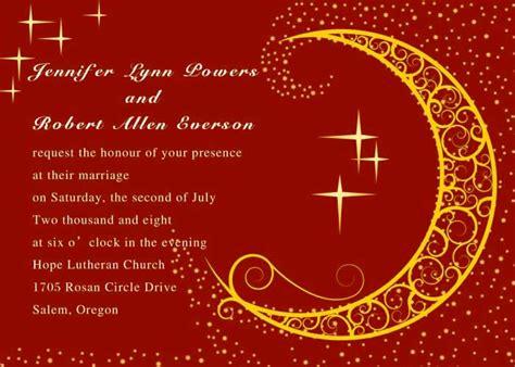 moon wedding invitations moon and wedding invitations iwi239 wedding invitations invitesweddings