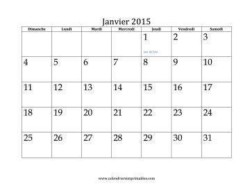 Calendrier Janvier 2015 Calendrier Pour Janvier 2015